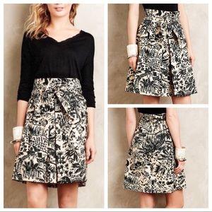 ANTHRO, COREY LYNN CALTER Cream Palm Garden Skirt